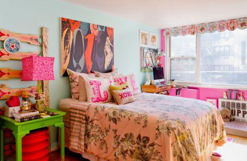粉红清新儿童房设计图片